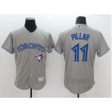 2016 MLB FLEXBASE Toronto Blue Jays 11 Pillar Grey Jersey