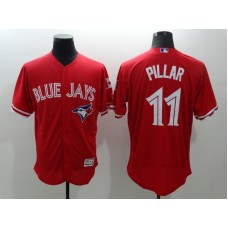 2016 MLB FLEXBASE Toronto Blue Jays 11 Pillar Red Jersey