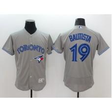 2016 MLB FLEXBASE Toronto Blue Jays 19 Bautista Grey Jersey