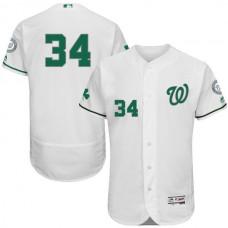 2016 MLB FLEXBASE Washington Nationals 34 Bryce Harper White Fashion Jerseys