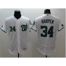 2016 MLB FLEXBASE Washington Nationals 34 Harper white jerseys