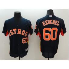 2016 MLB Houston Astros 60 Keuchel Black Elite Fashion Jerseys