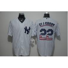 2016 MLB New York Yankees 22 Ellsbury White USA Flag Fashion Jerseys