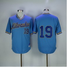 2017 MLB Milwaukee Brewers 19 Robin Yount Blue Throwback Jerseys