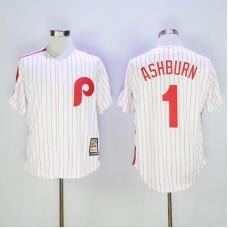 2017 MLB Philadelphia Phillies 1 Ashburn White stripe Game Throwback Jerseys