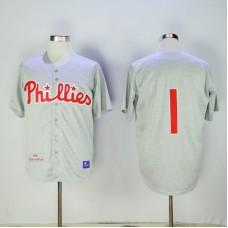 2017 MLB Philadelphia Phillies 1 Grey Jerseys