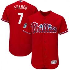 2017 MLB Philadelphia Phillies 7 Franco Red Jerseys