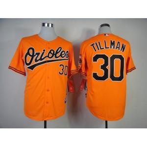 MLB Baltimore Orioles 30 Tillman Orange Jerseys
