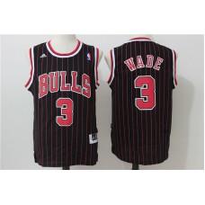 2016 NBA Chicago Bulls 3 Wade Black stripe Jerseys