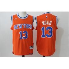 2016 NBA New York Knicks 13 Noah orange jerseys