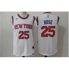2016 NBA New York Knicks 25 Rose White Jerseys