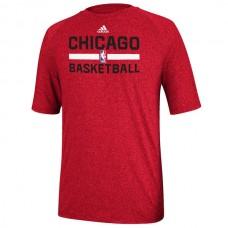 2016 NBA adidas Chicago Bulls Red Practice Performance T-Shirt