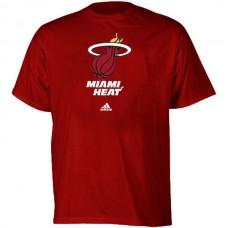 2016 NBA adidas Miami Heat Full Primary Logo T-Shirt - Red
