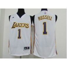 2016 NBA los Angeles Lakers 1 Russell white jerseys