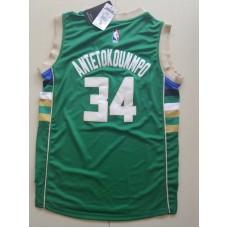 2017 NBA Milwaukee Bucks 34 Giannis Antetokounmpo green kids jerseys