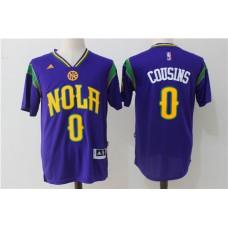 2017 NBA New Orleans Pelicans 0 DeMarcus Cousins jersey sleeve