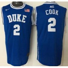 2016 NBA NCAA Duke Blue Devils 2 Cook Blue Jerseys 2