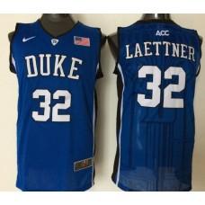 2016 NBA NCAA Duke Blue Devils 32 Laettner Blue Jerseys 1