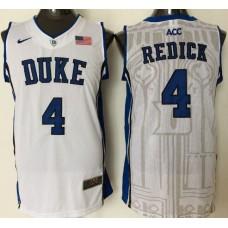 2016 NBA NCAA Duke Blue Devils 4 Redick White Jerseys 1