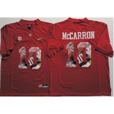 2016 NCAA Alabama Crimson Tide 10 Mccarron Red Fashion Edition Jerseys