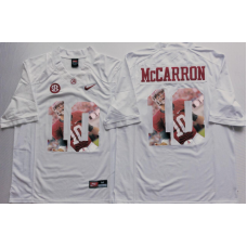 2016 NCAA Alabama Crimson Tide 10 Mccarron White Limited Fashion Edition Jerseys