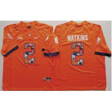 2016 NCAA Clemson Tigers 2 Watkins Orange Limited Fashion Edition Jerseys