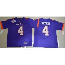 2016 NCAA Clemson Tigers 4 DeShaun Watson Purple College Football Limited Jersey