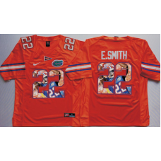 2016 NCAA Florida Gators 22 E.Smith Orange Fashion Edition Jerseys