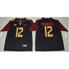 2016 NCAA Florida State Seminoles 12 Deondre Francois Black College Football Jersey