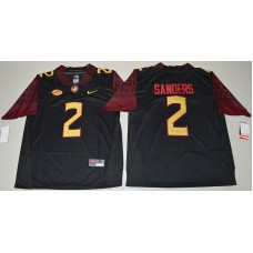 2016 NCAA Florida State Seminoles 2 Deion Sanders Black College Football Limited Jersey