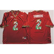 2016 NCAA Florida State Seminoles 2 Sanders Red Fashion Edition Jerseys