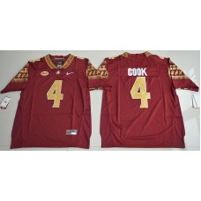 2016 NCAA Florida State Seminoles 4 Dalvin Cook Red College Football Limited Jersey