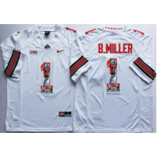 2016 NCAA Ohio State Buckeyes 1 B.Miller White Fashion Edition Jerseys