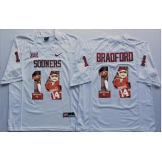 2016 NCAA Oklahoma Sooners 14 Bradford White Fashion Edition Jerseys