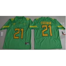 2016 NCAA Oregon Duck 21 Royce Freeman Apple Green College Football Electric Lightning Limited Jerseys