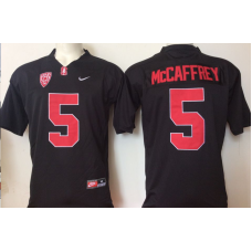 2016 NCAA Stanford Cardinals 5 Mccaffrey Black Jerseys