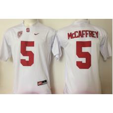 2016 NCAA Stanford Cardinals 5 Mccafrey White Jerseys