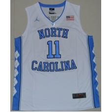 2016 North Carolina Tar Heels Brice Johnson 11 College Basketball Jersey - White