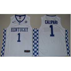 2017 Kentucky Wildcats John Calipari 1 College Basketball Hype Elite White Jersey