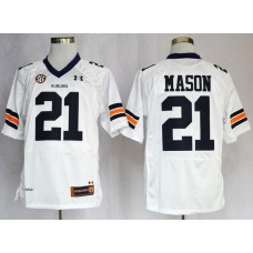 NCAA Auburn Tigers 21 Tre Mason White Football Authentic Jerseys