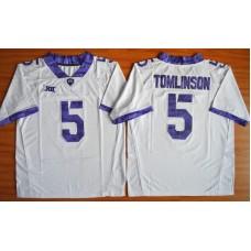 NCAA TCU Horned Frogs 5 LaDainian Tomlinson white 2015 Football Jersey.