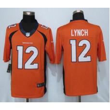2016 Denver Broncos 12 Lynch Orange Nike Limited Jerseys