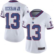 2016 Men New York Giants 13 Odell Beckham Jr Nike White Color Rush Limited Jersey