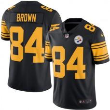 2016 Men Pittsburgh Steelers 84 Antonio Brown Nike Black Color Rush limited Jersey