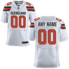 2016 Men's Cleveland Browns Nike White Elite Custom Jersey