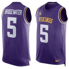 2016 Minnesota Vikings 5 Teddy Bridgewater  Nike Player Name & Number Tank Top - Purple