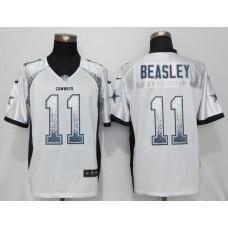 2016 NEW Nike Dallas cowboys 11 Beasley Drift Fashion White Elite Jerseys