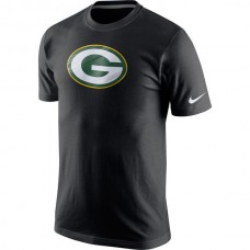 2016 NFL Nike Green Bay Packers Fast Logo T-Shirt - Black