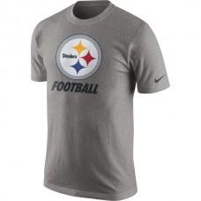 2016 NFL Pittsburgh Steelers Nike Facility T-Shirt - Heathered Gray