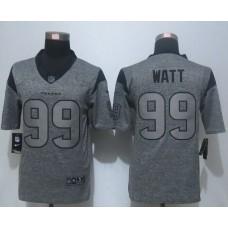 2016 New Nike Houston Texans 99 Watt Gray Men's Stitched Gridiron Gray Limited Jersey